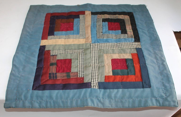 19th Century Amish Wool Doll Quilt Lancaster Co., Pennsylvania 3