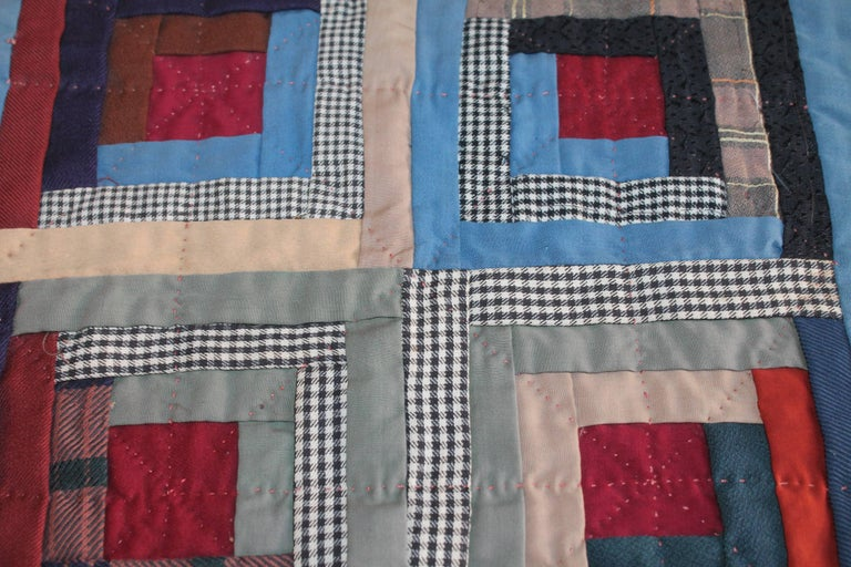 19th Century Amish Wool Doll Quilt Lancaster Co., Pennsylvania 4