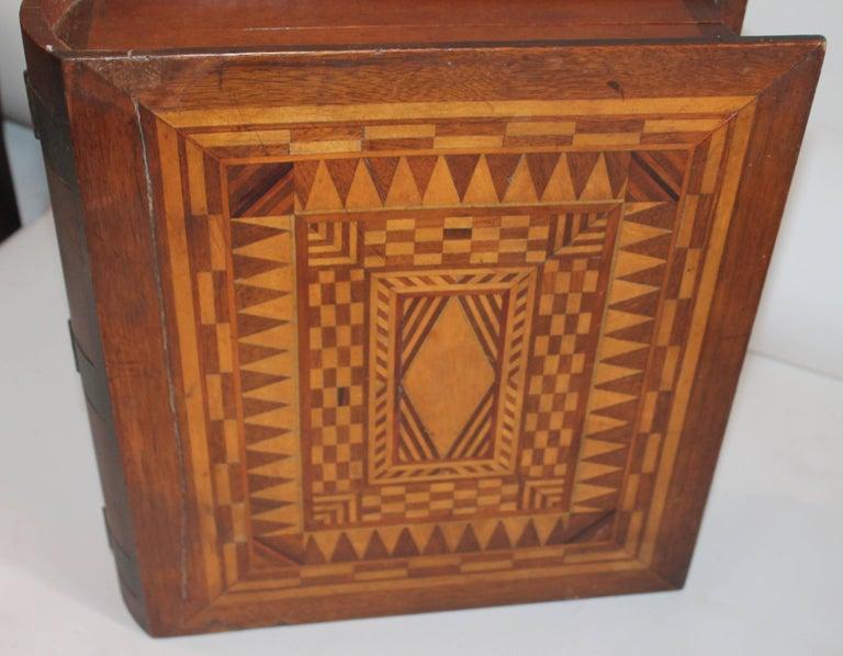 19th Century Folky Inlaid Bible Box 2