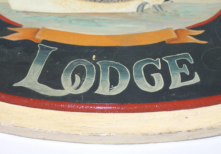 American Goose Lake Lodge Trade Sign For Sale