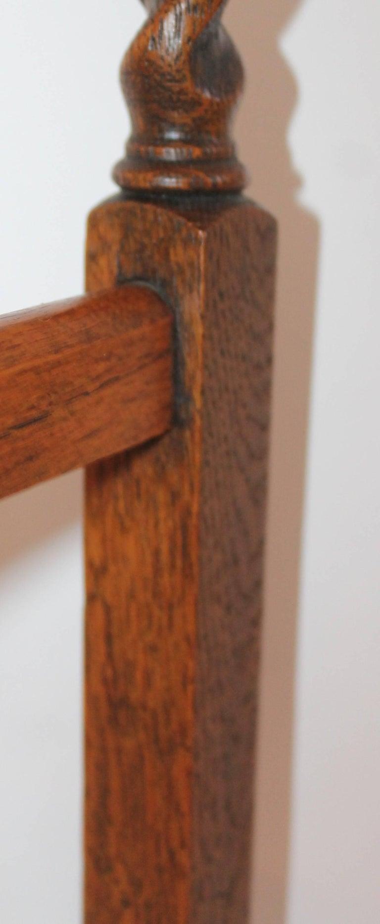 19th Century Oak Quilt Rack in Barley Twist Form 5