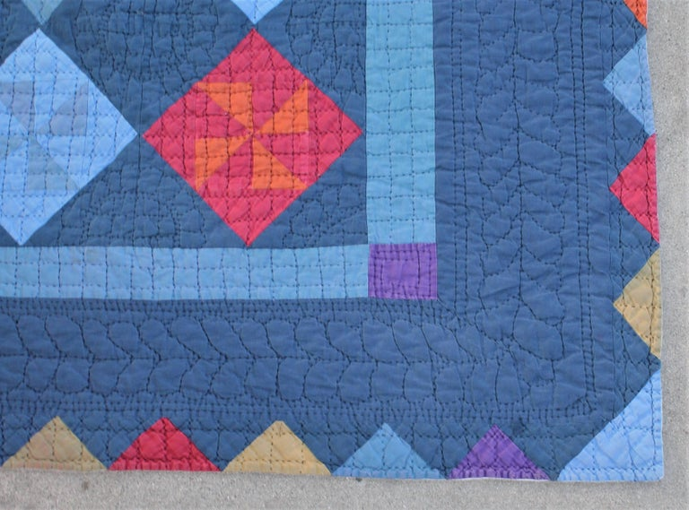 American Amish Pin Wheel Quilt For Sale