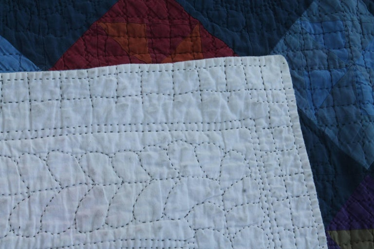 Amish Pin Wheel Quilt For Sale 1