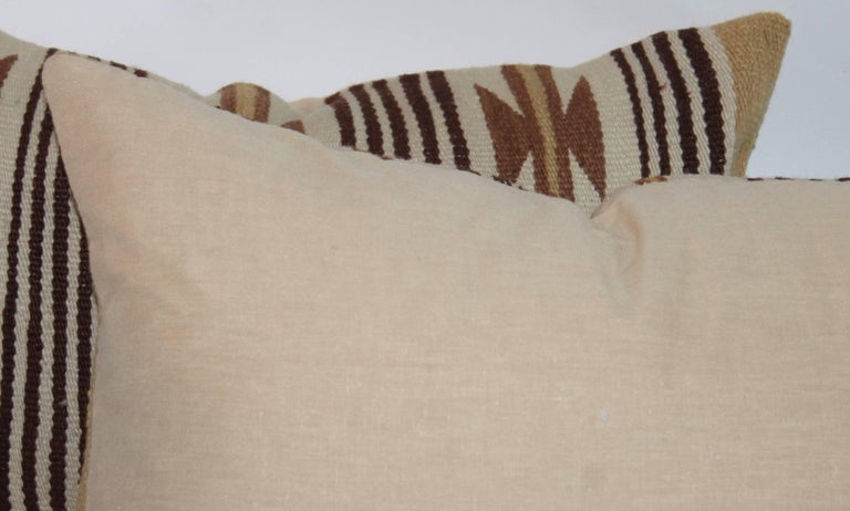 Hand-Crafted Navajo Indian Weaving Saddle Blanket Pillows For Sale
