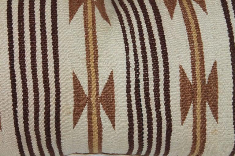 Adirondack Navajo Indian Weaving Saddle Blanket Pillows For Sale