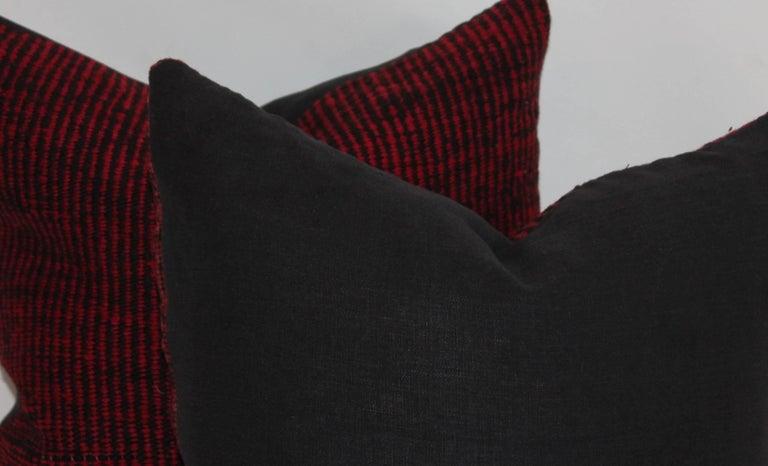 Navajo Indian Weaving Saddle Blanket Pillows or Pair 7