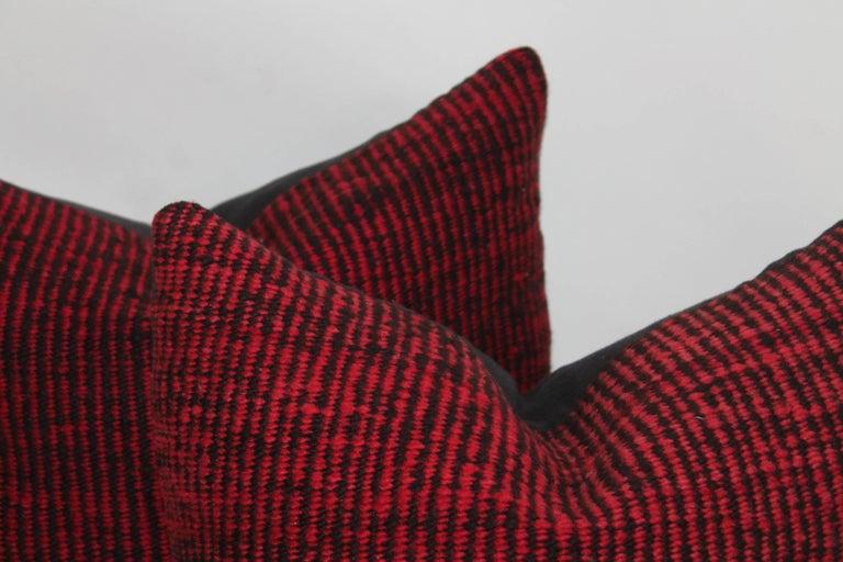 Navajo Indian Weaving Saddle Blanket Pillows or Pair 2