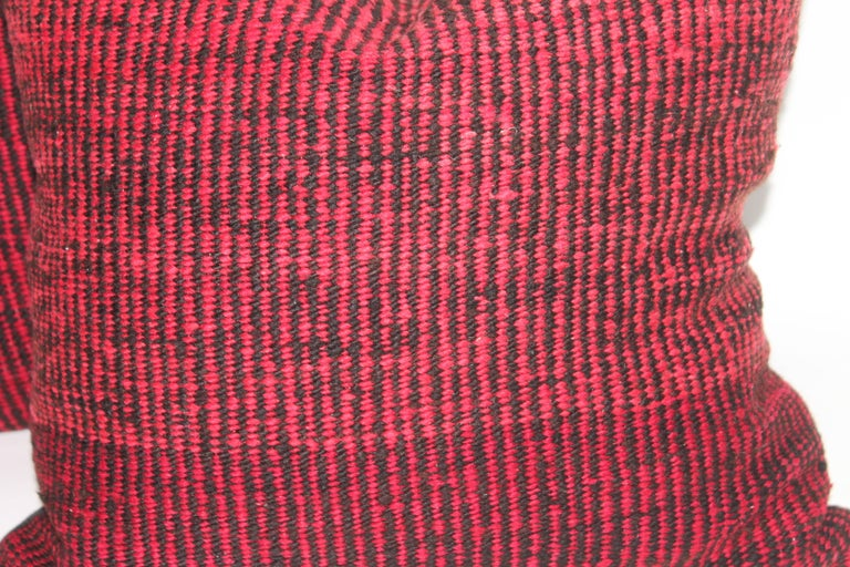 American Navajo Indian Weaving Saddle Blanket Pillows or Pair For Sale