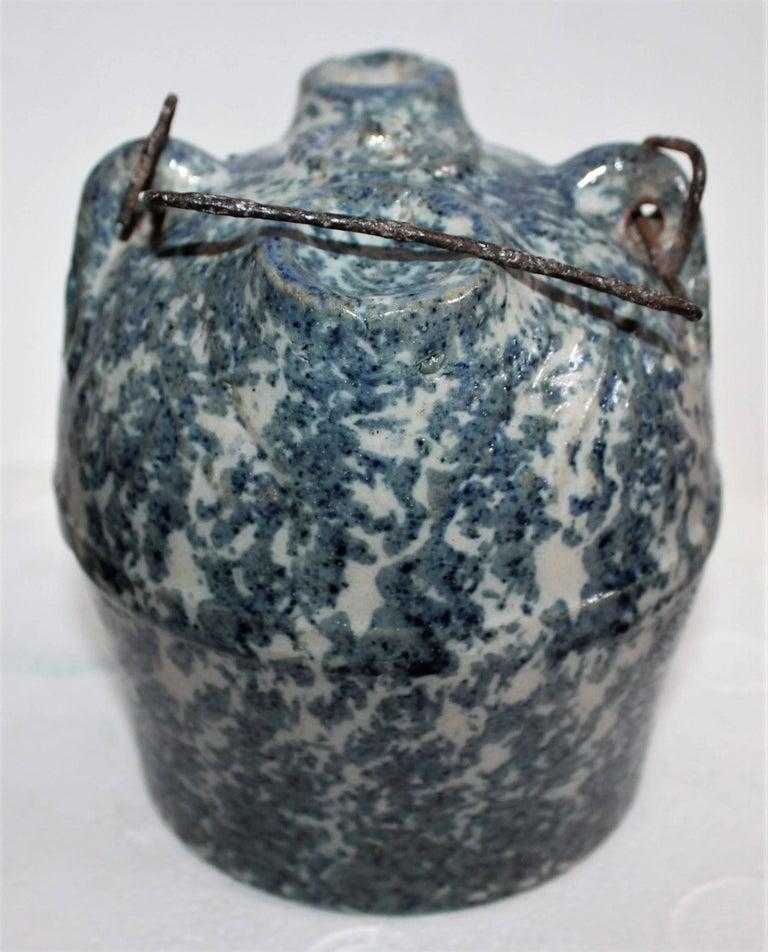 Sponge Ware 19th Century Pottery Harvest Jug 2