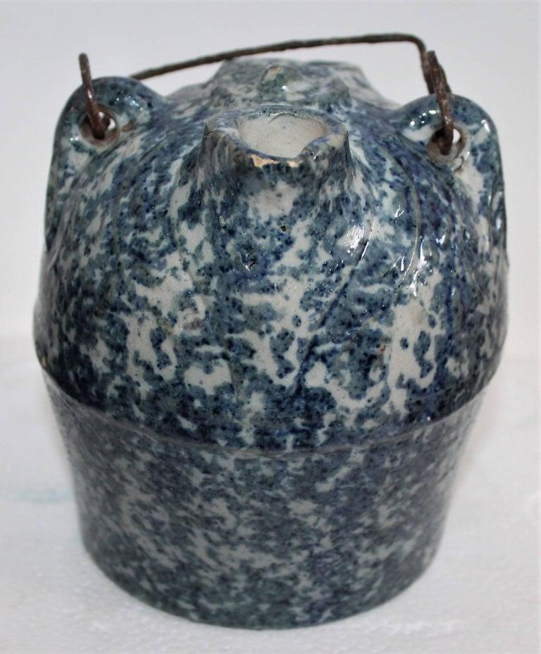 Sponge Ware 19th Century Pottery Harvest Jug 4
