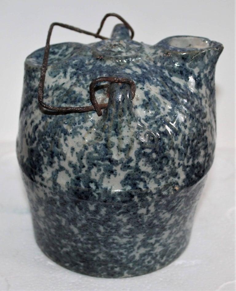 Sponge Ware 19th Century Pottery Harvest Jug 5