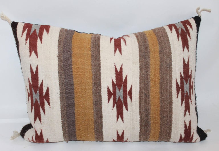 Folk Art Two Navajo Geometric Bolster Pillows For Sale