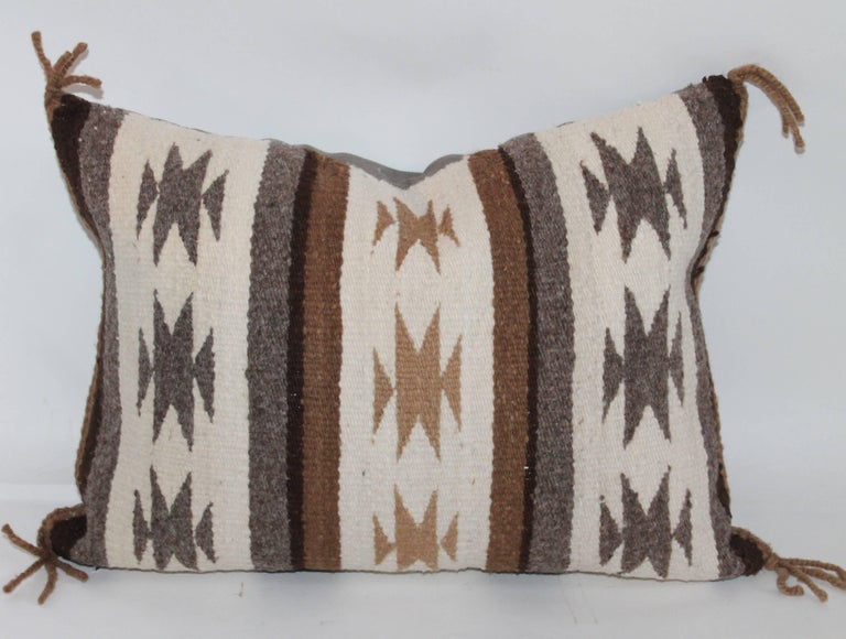 20th Century Two Navajo Geometric Bolster Pillows For Sale