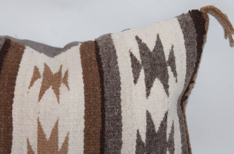 Two Navajo Geometric Bolster Pillows For Sale 1
