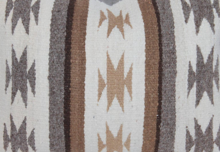 Wool Two Navajo Geometric Bolster Pillows For Sale