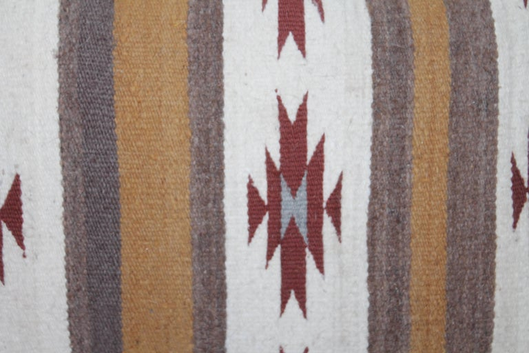 Unknown Two Navajo Geometric Bolster Pillows For Sale