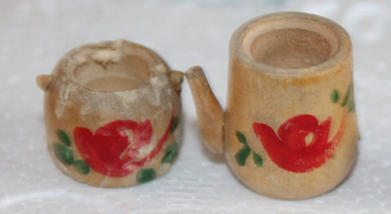 20th Century Three Folk Art Apple Collection For Sale