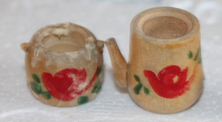20th Century Three Folk Art Apple Collection For Sale
