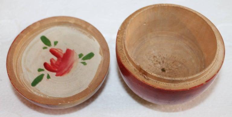 Japanese Three Folk Art Apple Collection For Sale