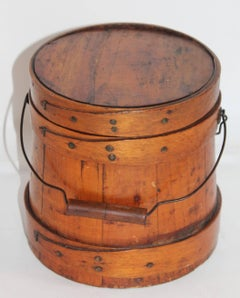 19Thc Shaker Style  Sugar Bucket From New England