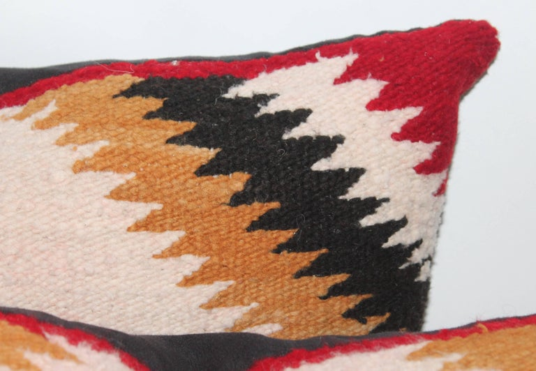 Navajo Saddle Blanket Pillows, Set of Three In Good Condition For Sale In Los Angeles, CA