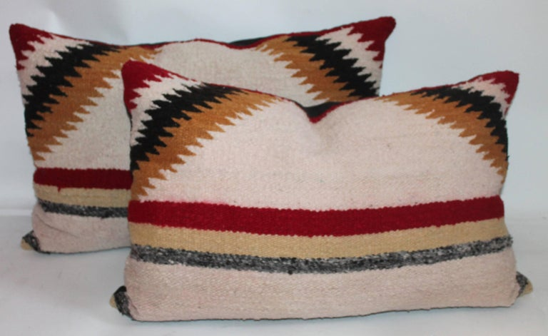 American Navajo Saddle Blanket Pillows, Set of Three For Sale