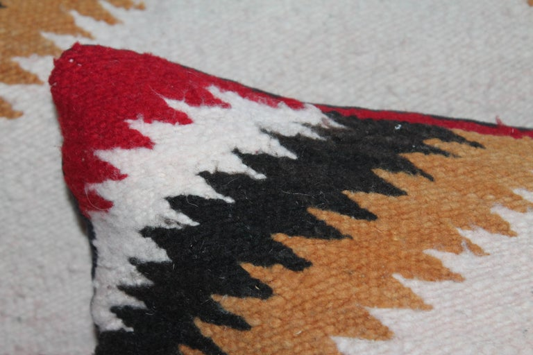 Hand-Woven Navajo Saddle Blanket Pillows, Set of Three For Sale
