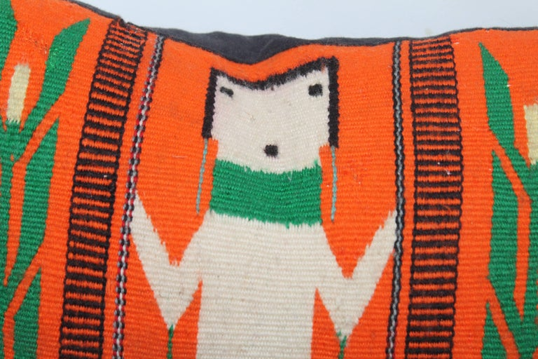Adirondack Yei Indian Weaving Pillow For Sale