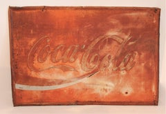 Coca Cola Sign in Original Painted & Faded  Surface