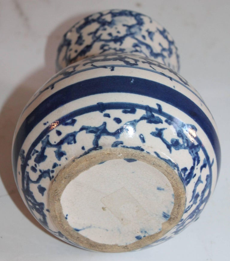 Sponge Ware Pottery Pitcher In Excellent Condition For Sale In Los Angeles, CA