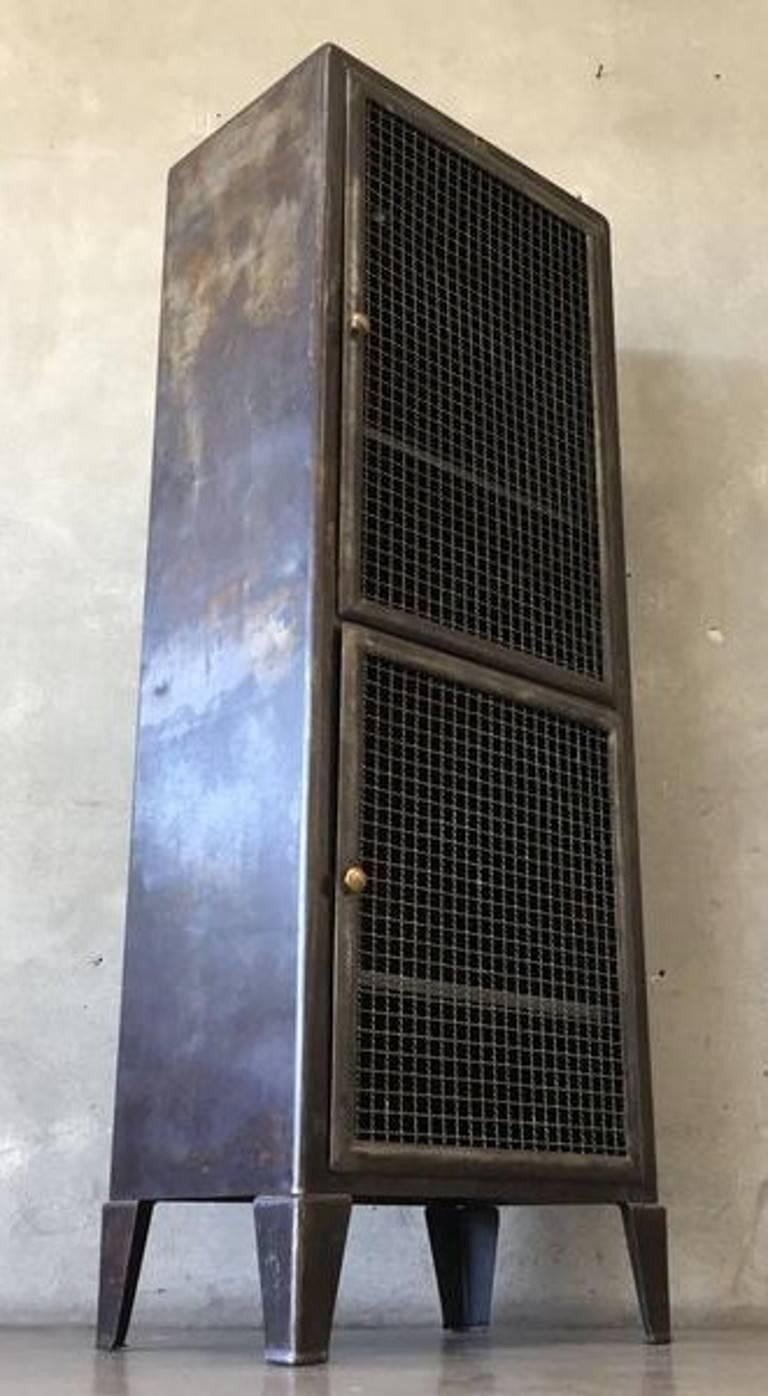 American Metal Industrial Doctors Cabinet For Sale