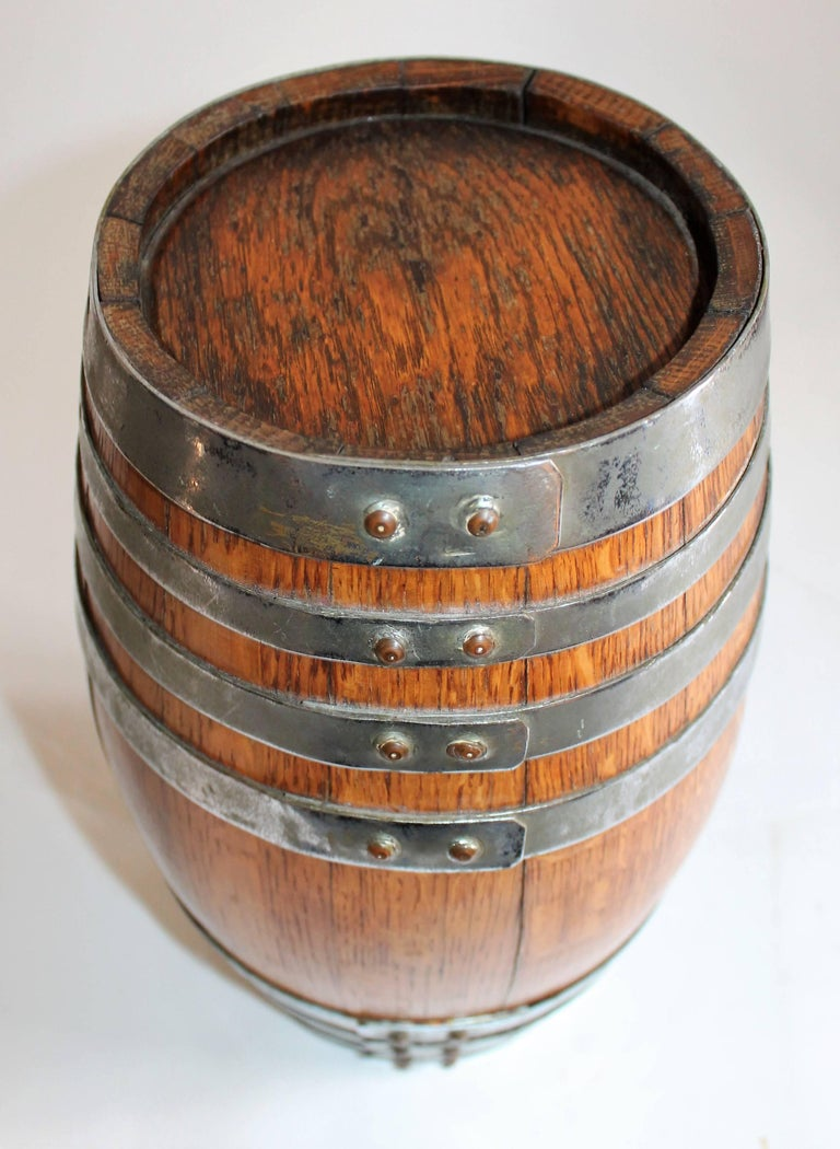 19th Century Tabletop Barrel or Oak Miniature Hires Rootbeer Style 3