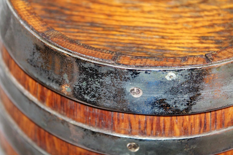 19th Century Tabletop Barrel or Oak Miniature Hires Rootbeer Style In Good Condition For Sale In Los Angeles, CA