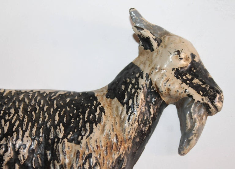 Adirondack Cast Iron Goat in Original Painted Surface For Sale