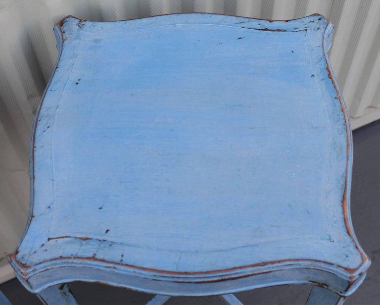 Blue Painted Pair of Side Tables 8