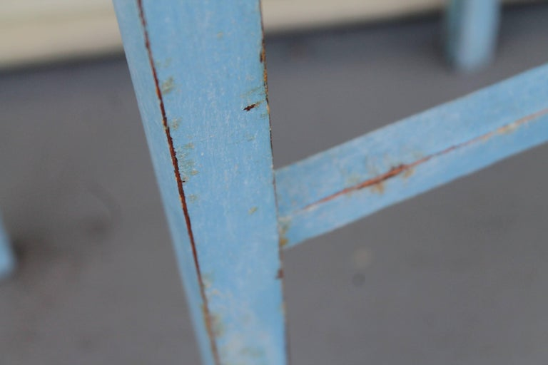 Blue Painted Pair of Side Tables 6
