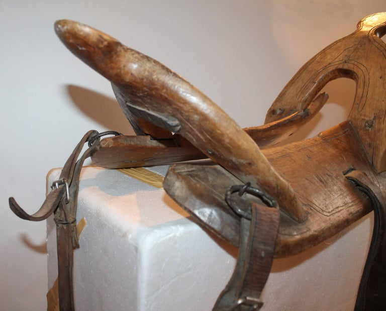 18th Century Handmade Wood Saddle Holder 7