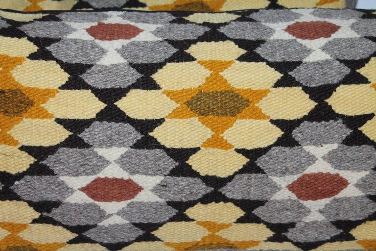 Navajo Indian Weaving Bolster Pillows, Two 4