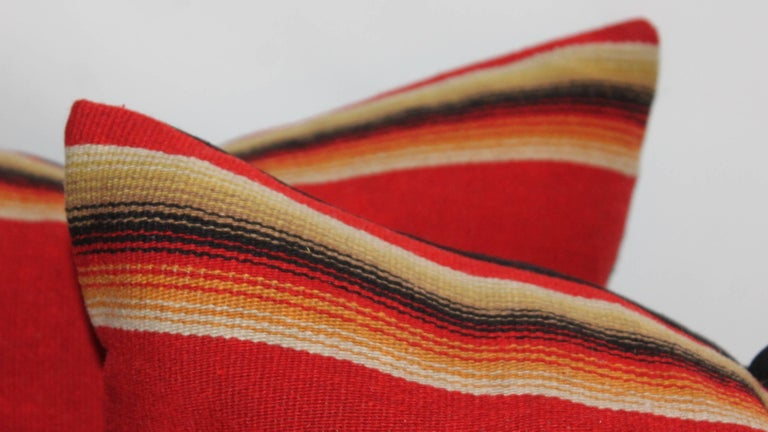 Adirondack Mexican / American Early Wool Serape Pillows For Sale