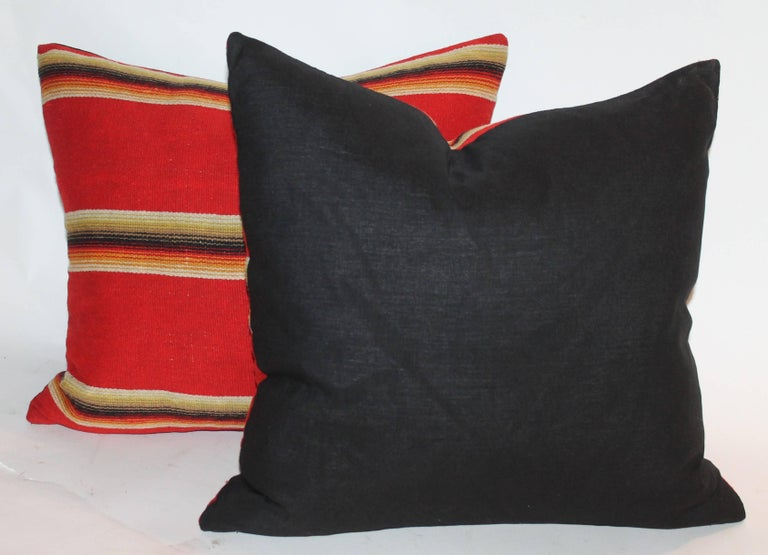 Mexican / American Early Wool Serape Pillows In Excellent Condition For Sale In Los Angeles, CA