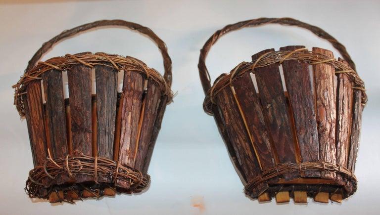 Adirondack Wall Baskets, Pair 3