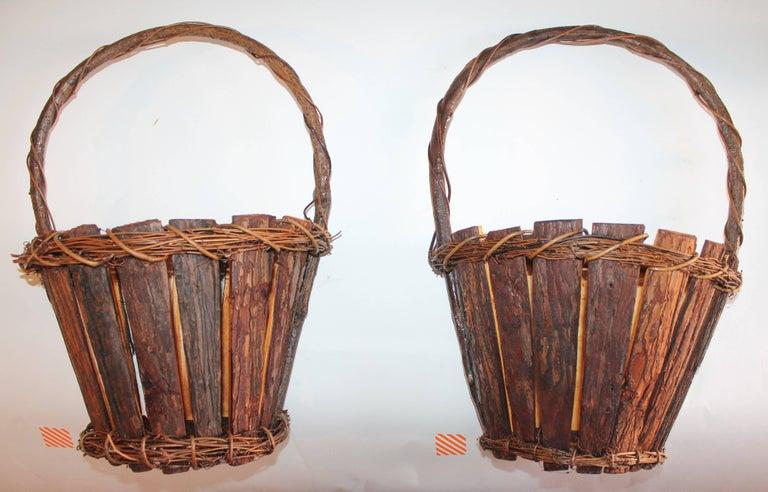 Adirondack Wall Baskets, Pair 2