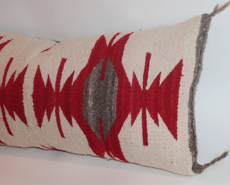 American Navajo Indian Weaving / Saddle Blanket Pillow For Sale