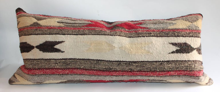 Navajo Indian Weaving Bolster Pillows In Excellent Condition For Sale In Los Angeles, CA
