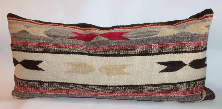 Hand-Woven Navajo Indian Weaving Bolster Pillows For Sale