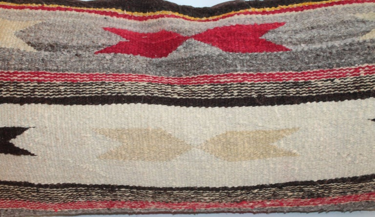 Early 20th Century Navajo Indian Weaving Bolster Pillows For Sale
