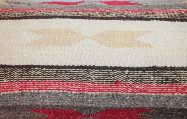 Wool Navajo Indian Weaving Bolster Pillows For Sale
