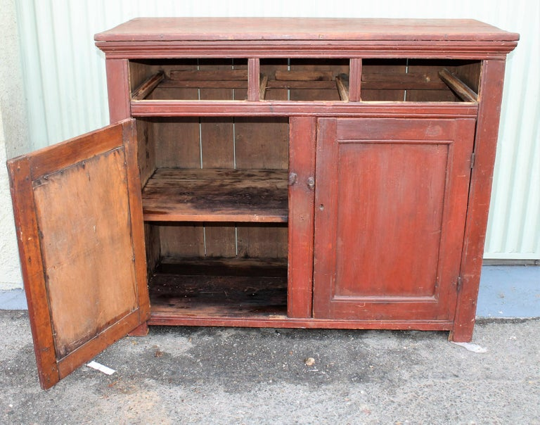 Painted 19th Century Canadian Jelly Cupboard For Sale