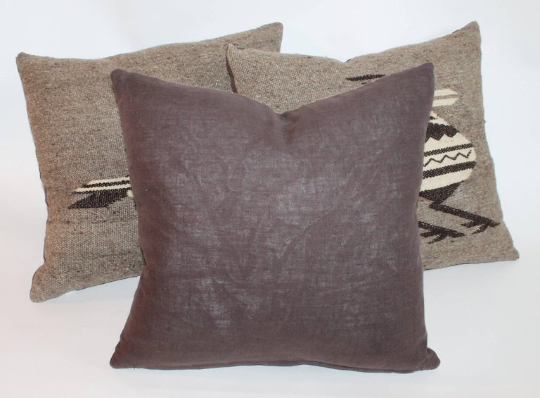Indian Weaving Road Runner Pillows In Excellent Condition For Sale In Los Angeles, CA