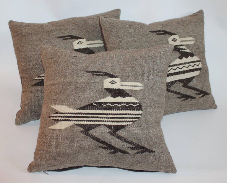 Other Indian Weaving Road Runner Pillows For Sale